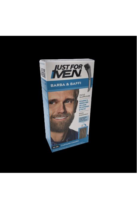 Just For Men Mustache & Beard gél na farbenie brady M25 svetlo hnedá v obchode Beautydepot