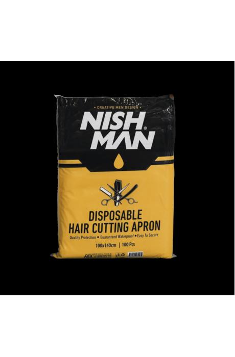 Nishman Disposible hair cutting cape jednorazove pláštenky 100ks. v obchode Beautydepot
