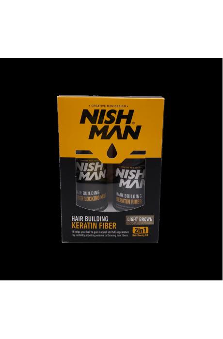 Nishman Keratin Light Brown farbenie a zahusťovanie tenkých vlasov v obchode Beautydepot