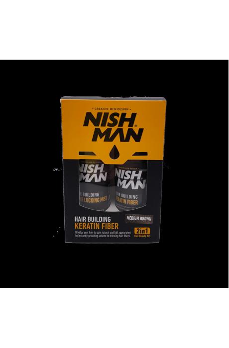 Nishman Keratin Medium Brown farbenie a zahusťovanie tenkých vlasov v obchode Beautydepot